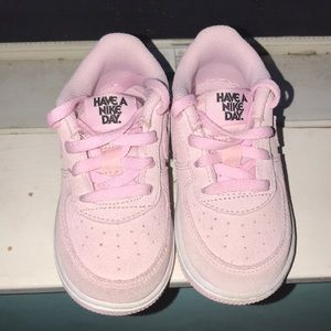 Have A Nike Day Pink Air Force 1s